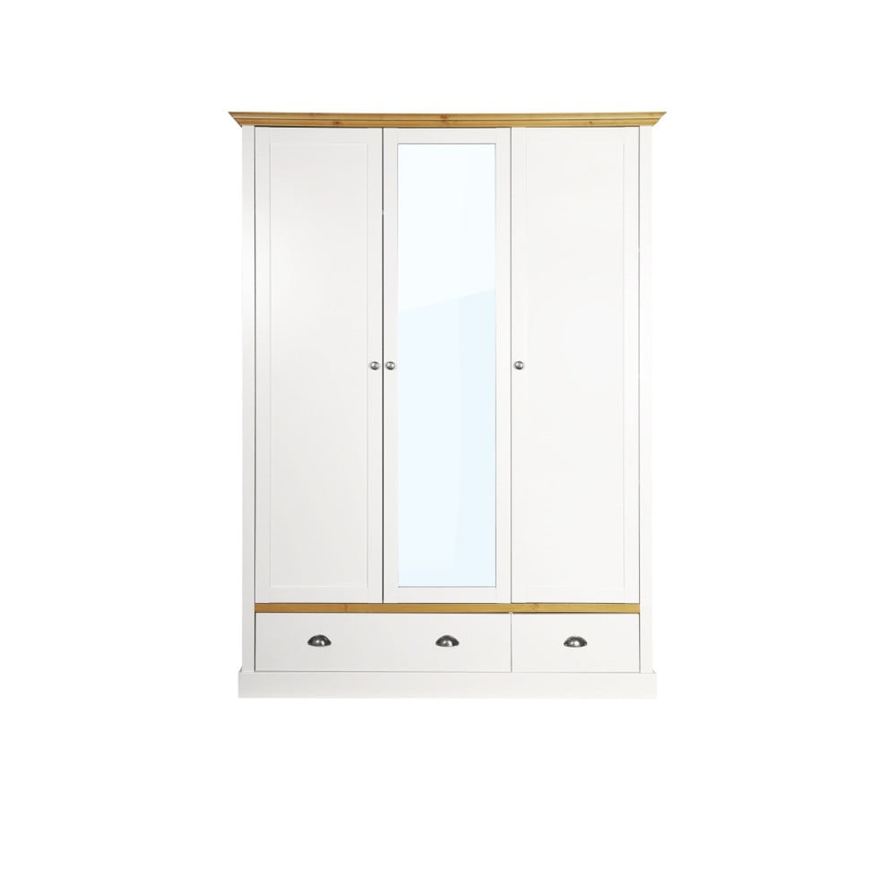 Biela šatníková skriňa Steens Sandringham, 192 × 148 cm