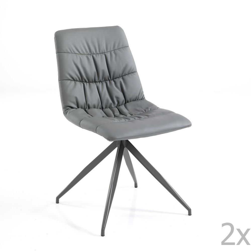 Sada 2 sivých jedálenských stoličiek Tomasucci Chiara
