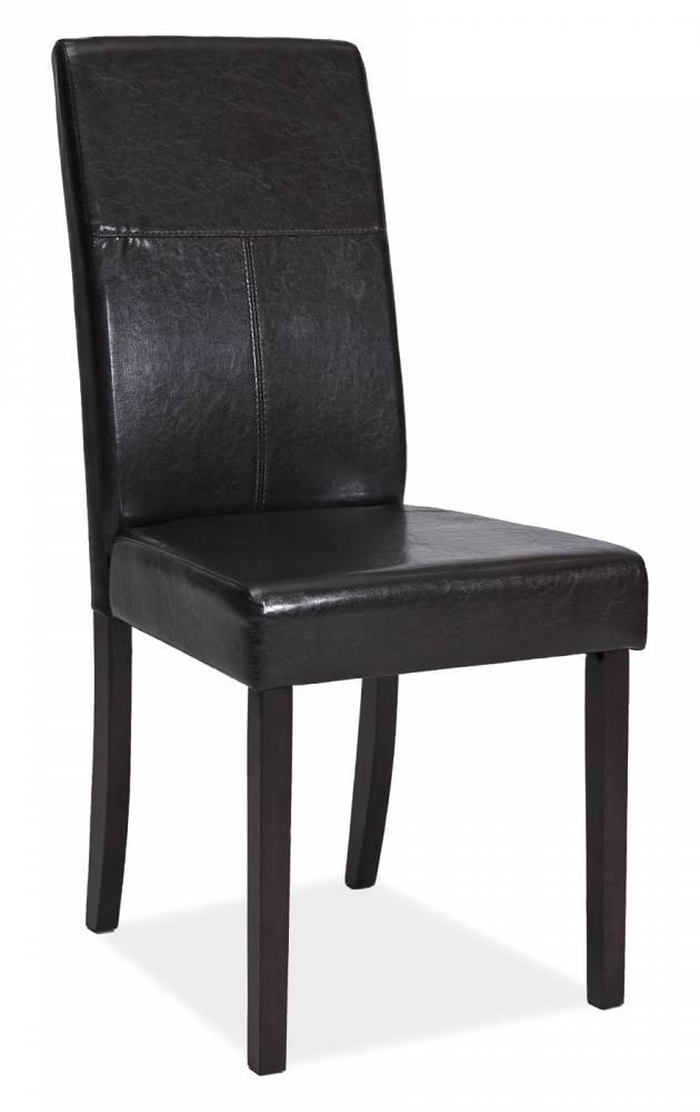 Jedálenská stolička C-114 (wenge + tmavohnedá)
