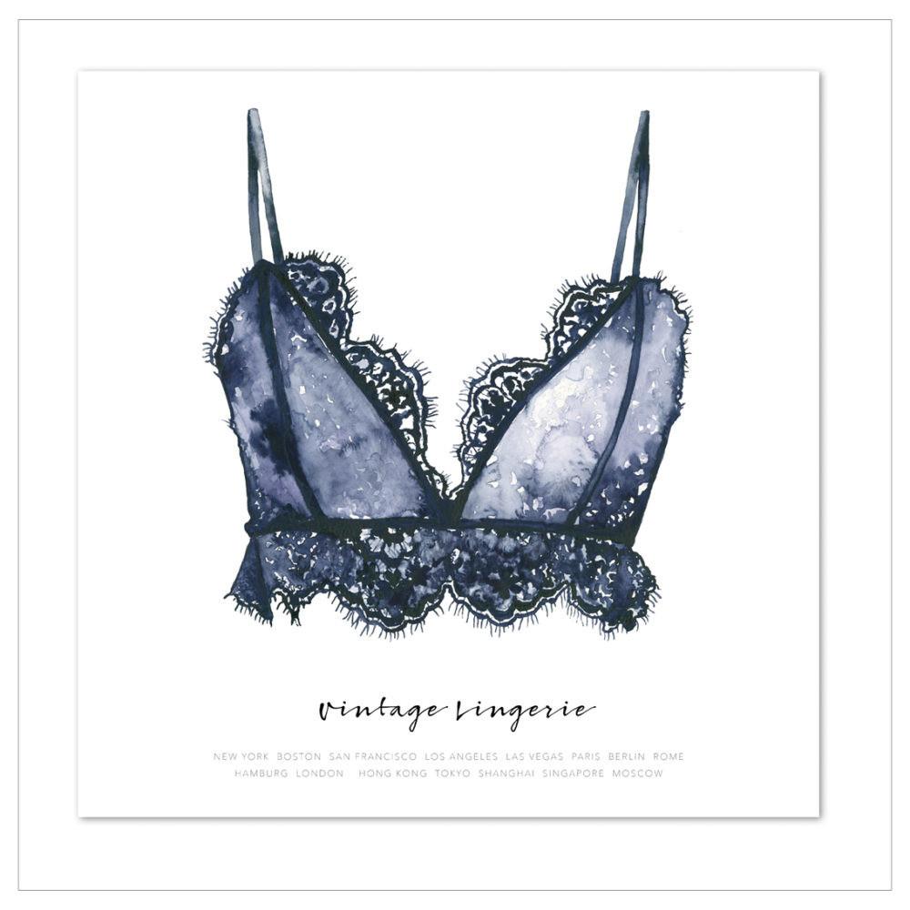 Plagát Leo La Douce Vintage Lingerie, 30x30cm