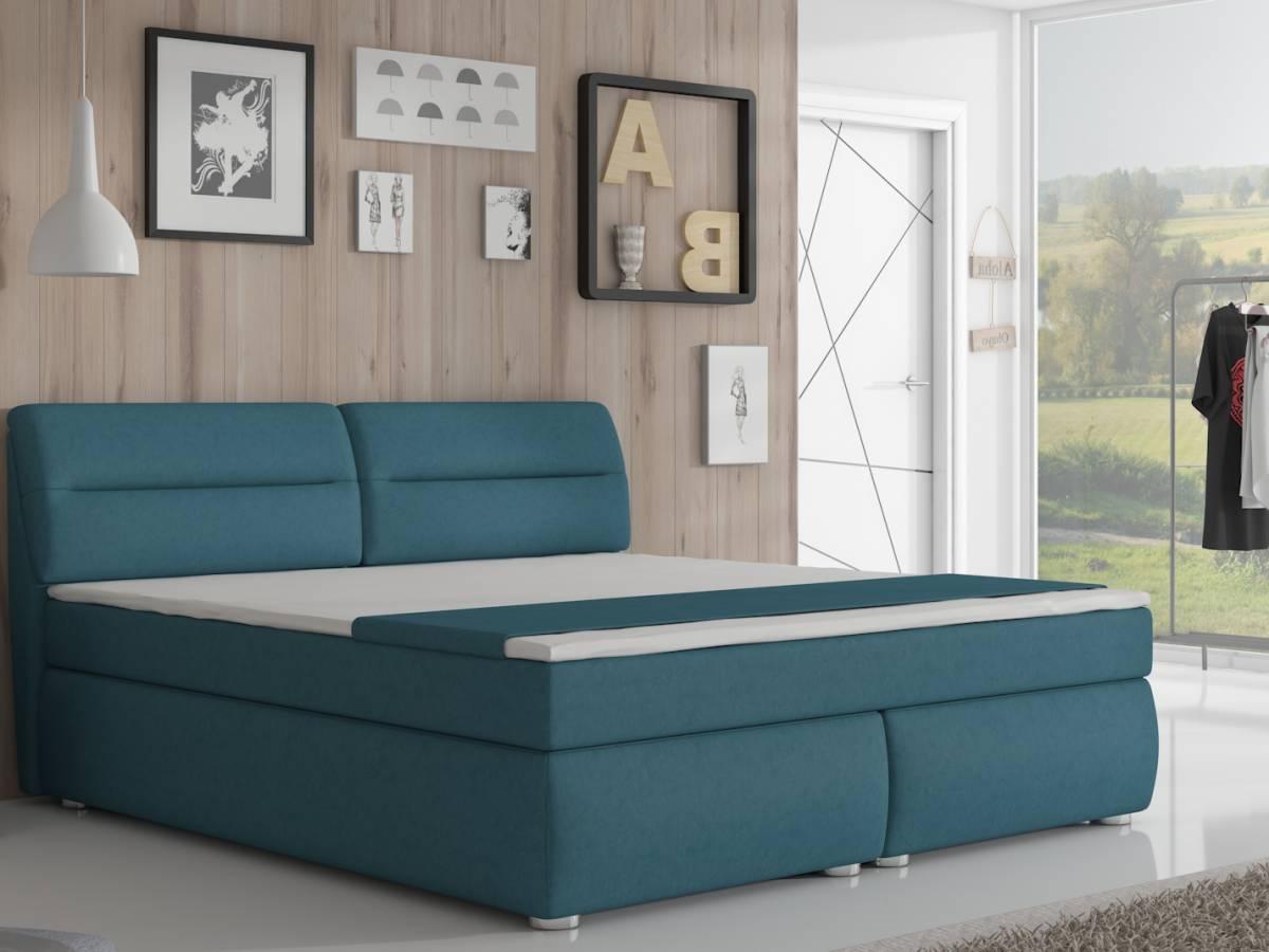 Manželská posteľ Boxspring 160 cm Floryda (s matracmi)