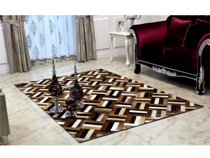 Kožený koberec TYP 02 (hovädzia koža + vzor patchwork)
