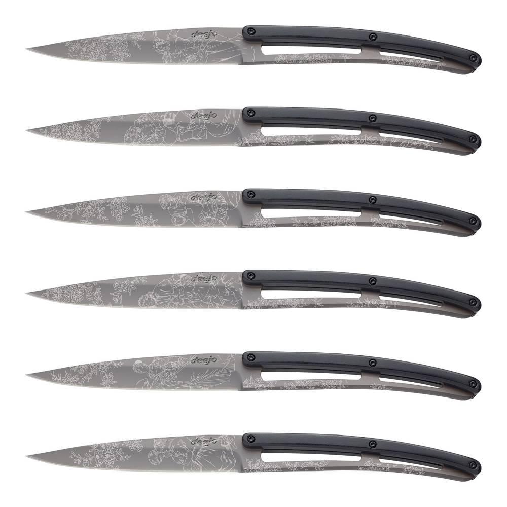Sada steakových nožů 6dílná PaperStone®, titanium Toile de Jouy