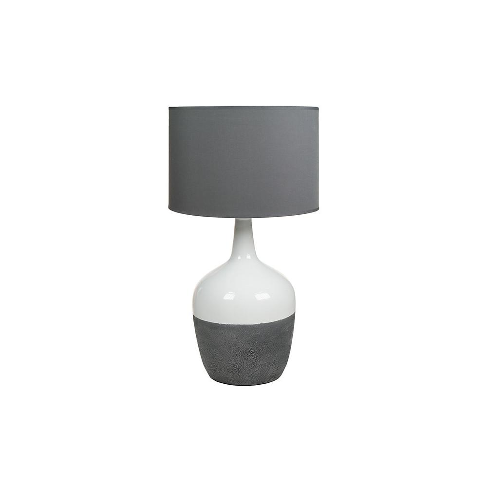 Sivo-biela stolová lampa Santiago Pons Duo