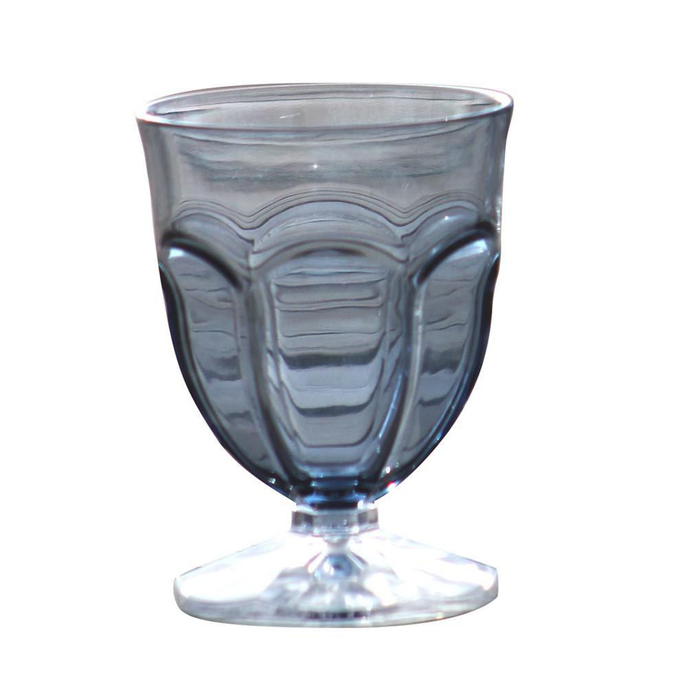 Sada 6 sivých plastových pohárov na vodu Sunvibes Happy, 250 ml