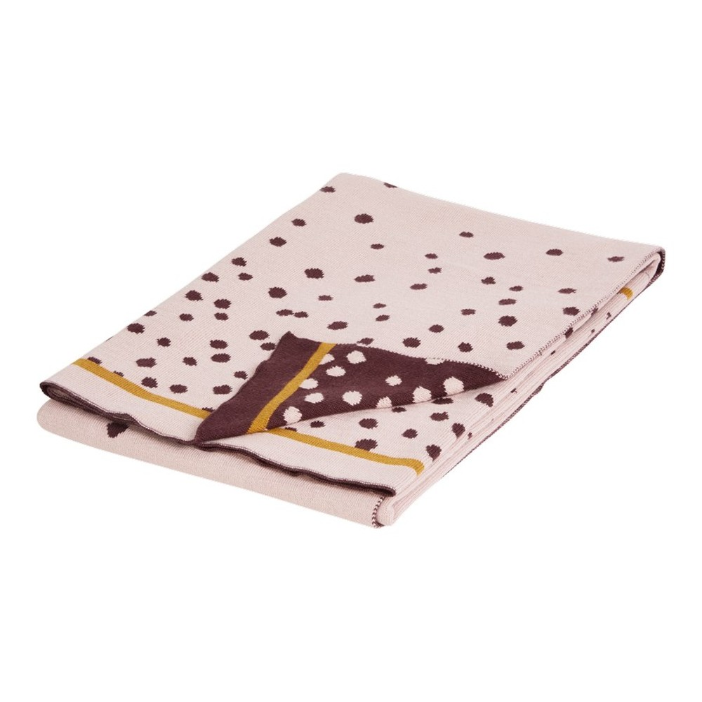 Ružová deka Done by Deer Happy Dots, 80×100cm