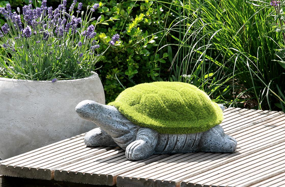 Bighome - Dekoratívna korytnačka - sivá