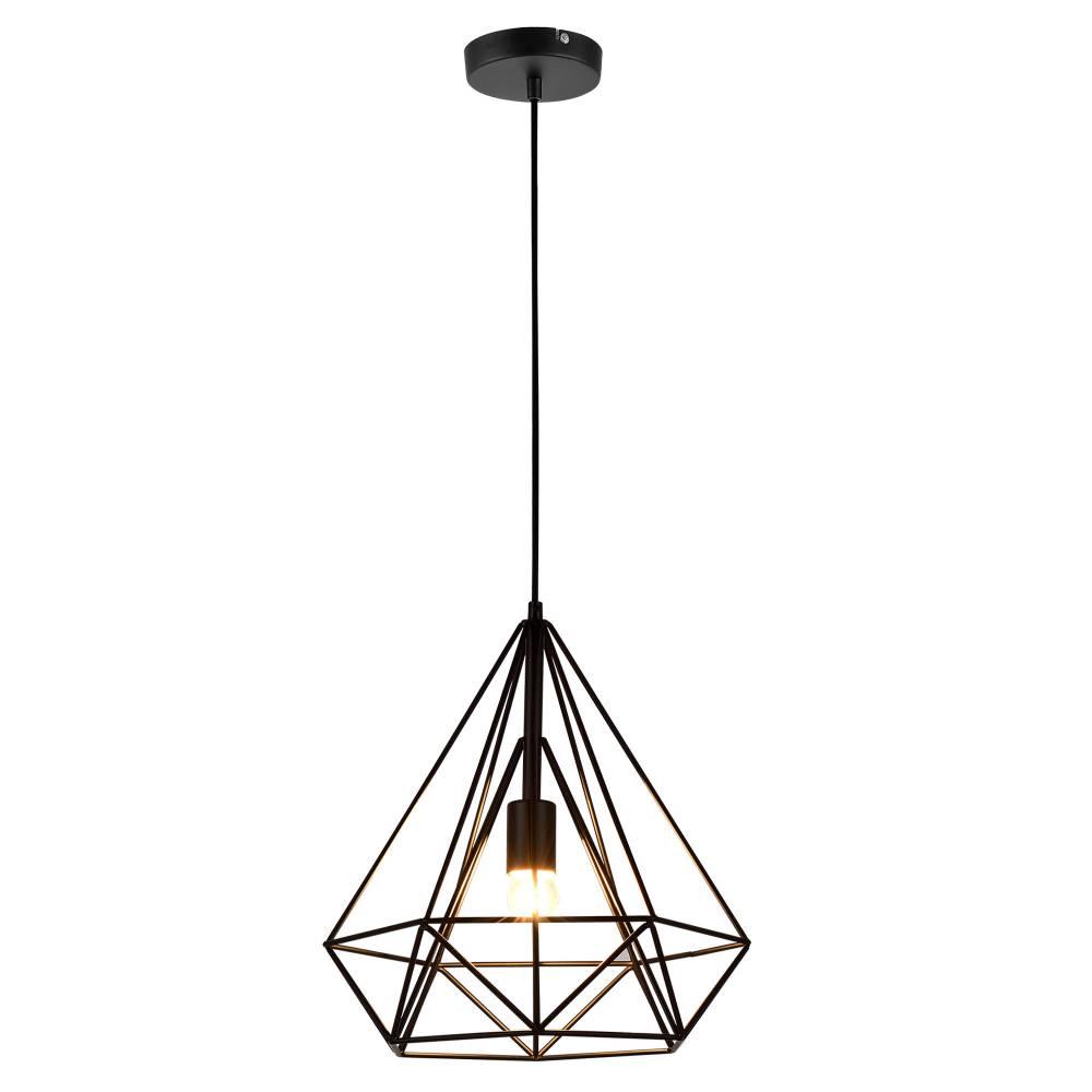 [lux.pro]® Dekoratívna dizajnová design závesná lampa HT168021 - čierna (1 x E27)