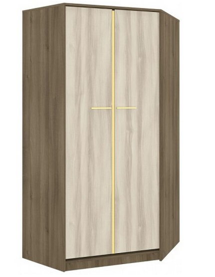 Rohová šatníková skriňa GEOMETRIC 01 / AGÁT / BREST   Farba: Žltá
