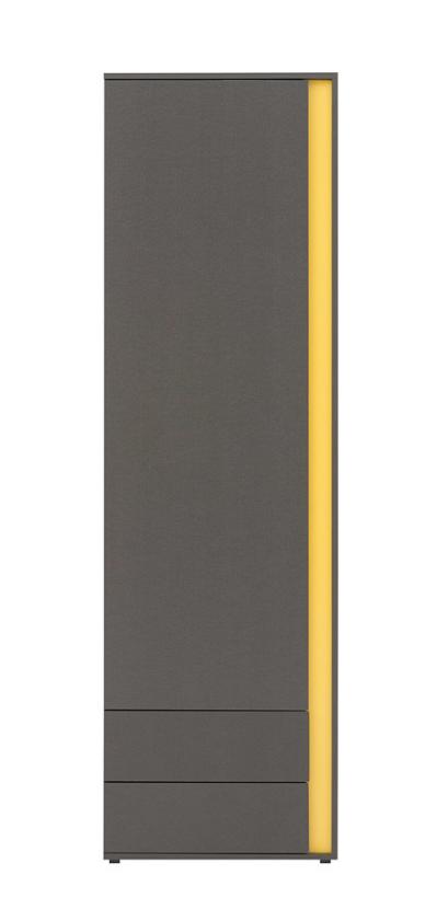 Skriňa Graphic REG1D2S L/P   Prevedenie: ľavé prevedenie : sivý wolfram