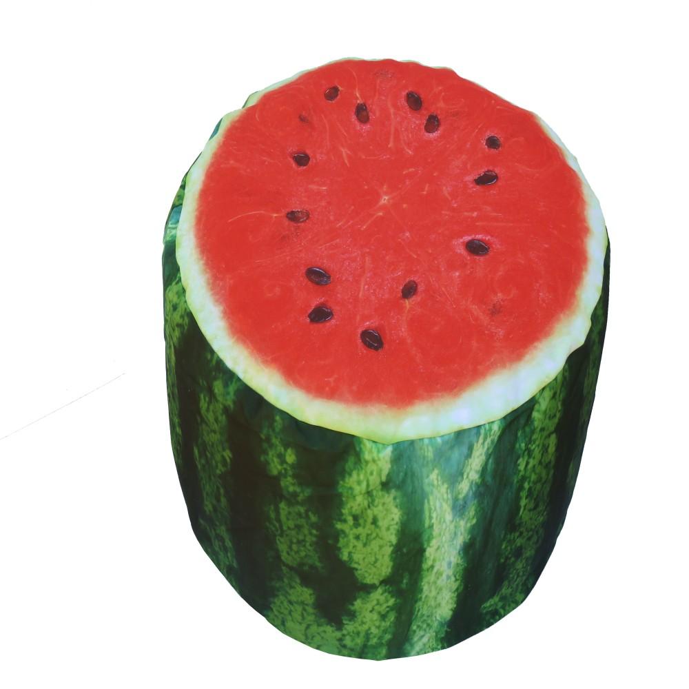 Nafukovací puf v tvare melóna Sunvibes