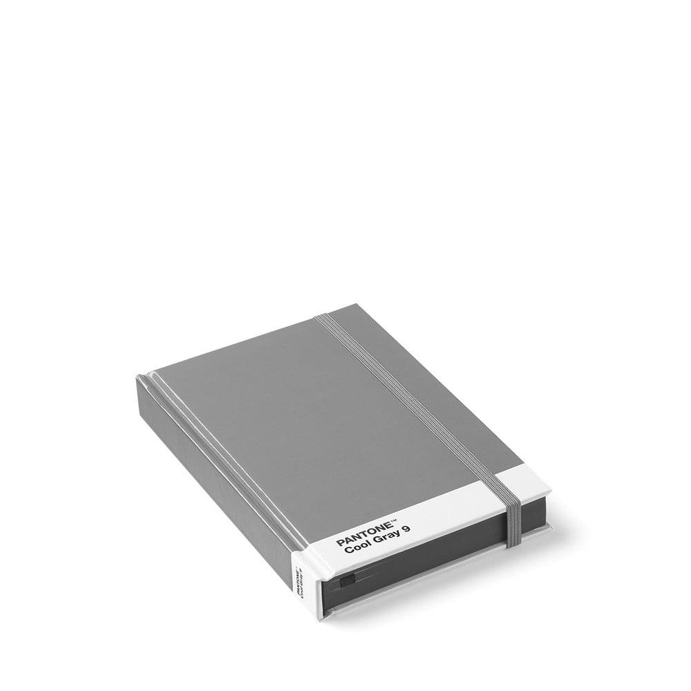 Malý sivý zápisník Pantone
