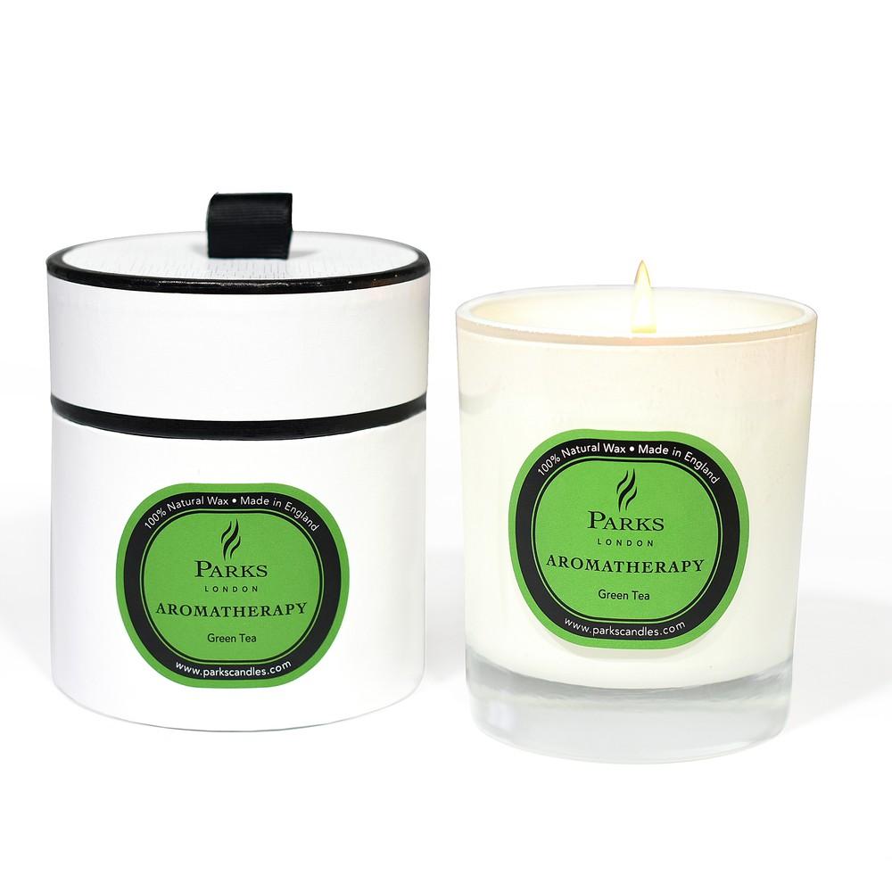 Sviečka s vôňou zeleného čaju Parks Candles London Aromatherapy, 45 hodín horenia