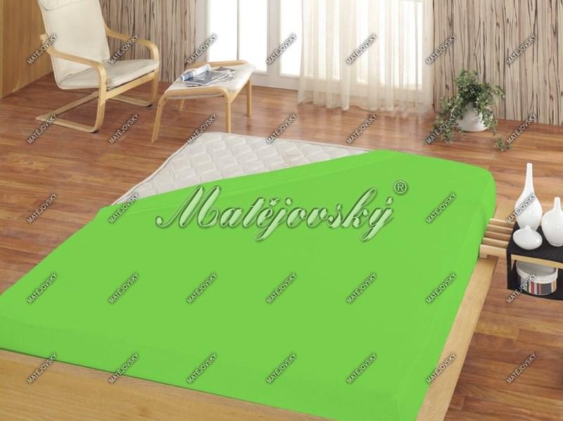 Matějovský prestieradlo Jersey zelená, 200 x 220 cm