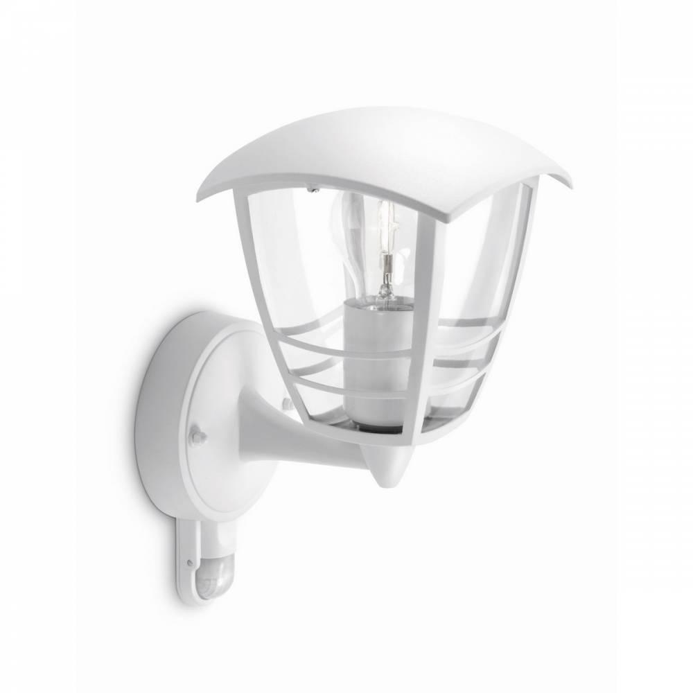 Philips 15388/31/16 Creek Vonkajšie nástenné svietidlo s čidlo 28,5 cm, biela