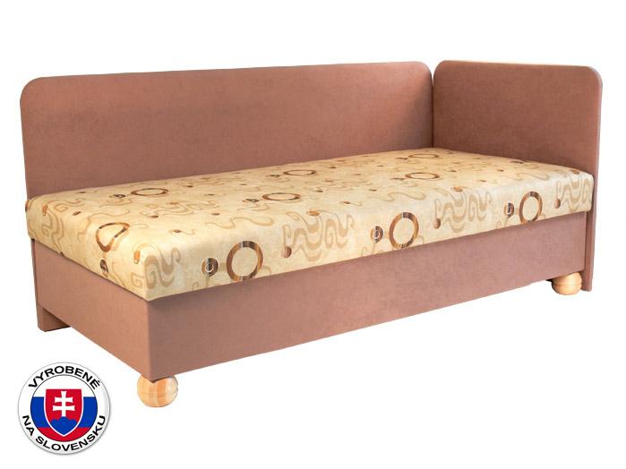 Jednolôžková posteľ (váľanda) 80 cm Siba (s pružinovým matracom) (P)