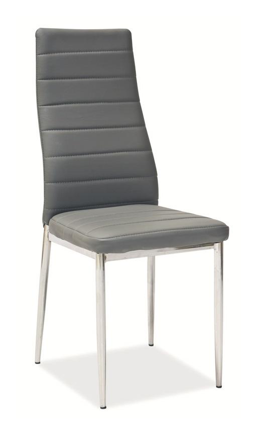 Jedálenská stolička HRON-261, sv. šedá/chróm