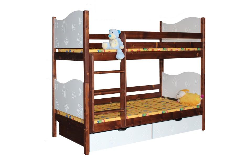 Bradop Poschodová posteľ TIBOR (základné prevedenie) B411-80x180