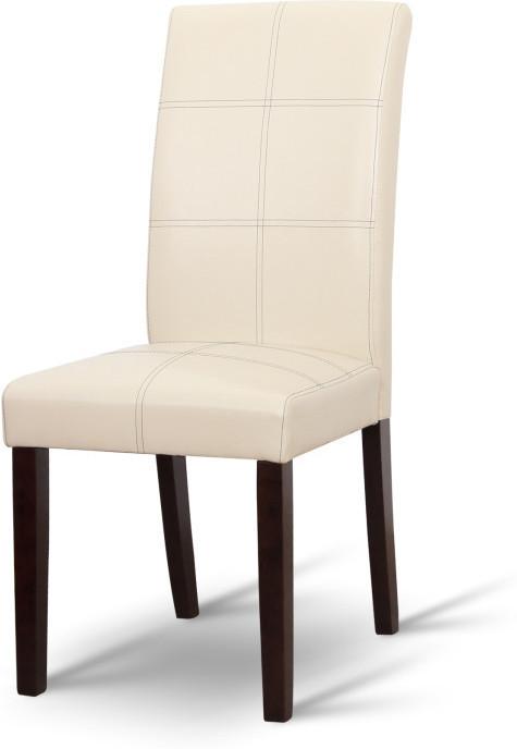 Jedálenská stolička, tmavý orech/ekokoža krémová, RORY
