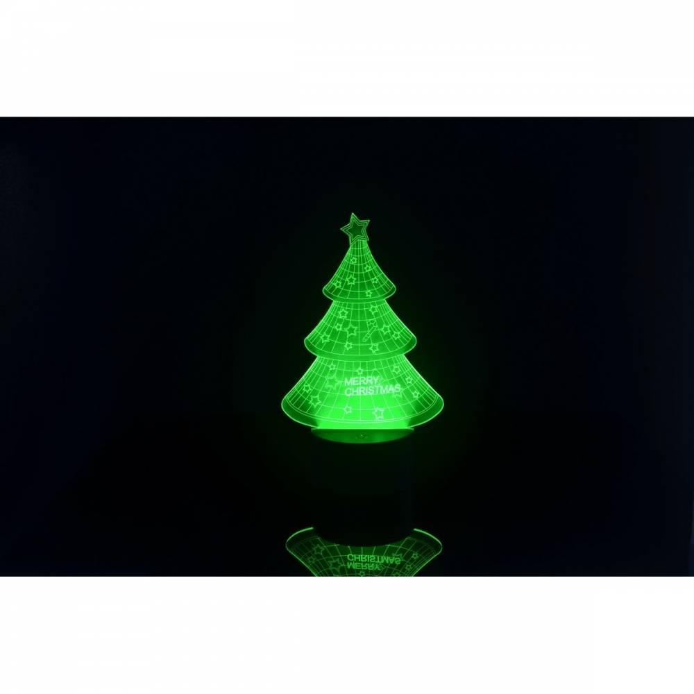 3D LED lampa Vianočný stromček