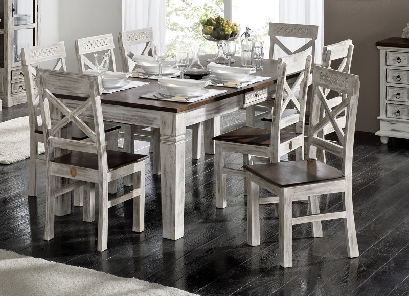 CASTLE-ANTIK jedálenský stôl #110 mango 90x90 cm