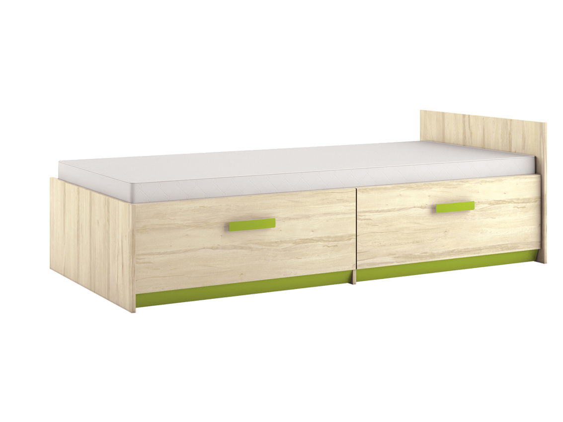 Jednolôžková posteľ 90 cm Best 17 Breza (s roštom a úl. priestorom)