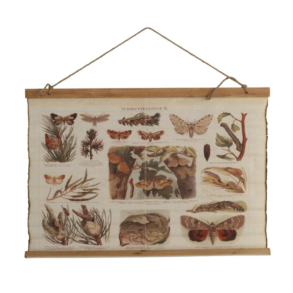 Plagát na bavlnenom plátne Geese Papillon