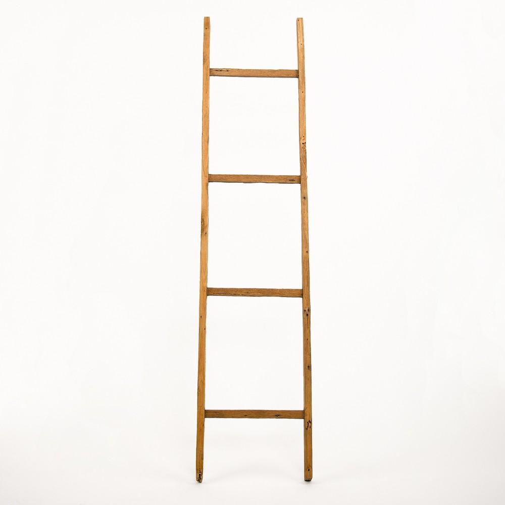 Dekoratívny rebrík z teakového dreva Simla Jungle, výška 176 cm