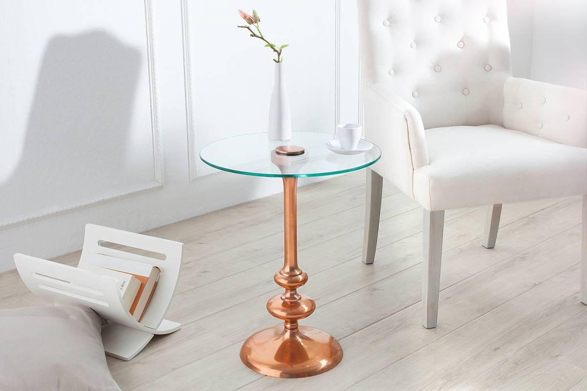 Bighome - Príručný stolík GRINGOT 45 cm - medená