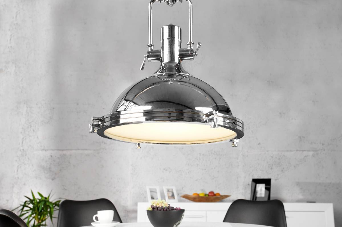 Visiaca lampa INDUSTRIAL  45 cm - chrómová