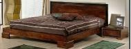 Furniture nábytok  Masívna posteľ z Palisanderu  Anusúja I  217x212x25/80 cm