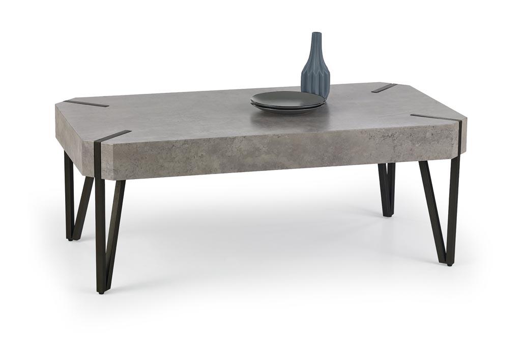 Konferenčný stolík Emily (betón + čierna)