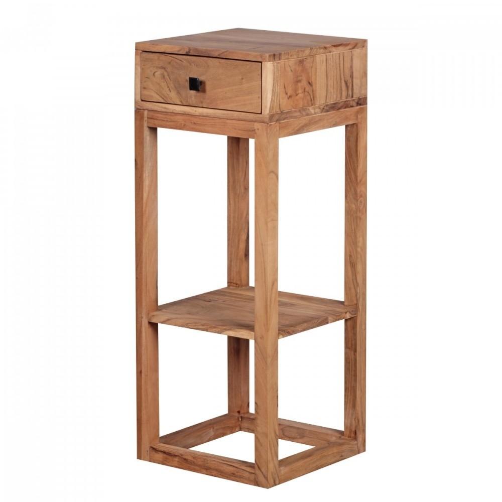 Odkladací stolík z masívneho akáciového dreva Skyport Mabel