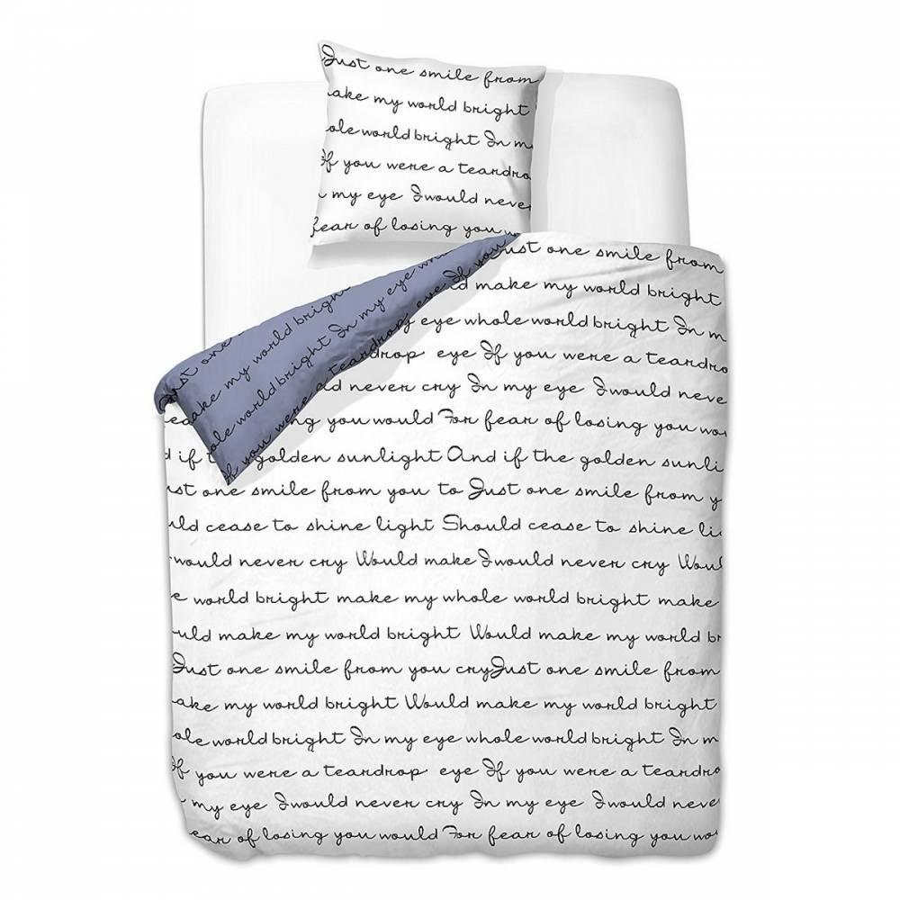 DecoKing Obliečky Poem light mikrovlákno, 200 x 220 cm, 2 ks 80 x 80 cm