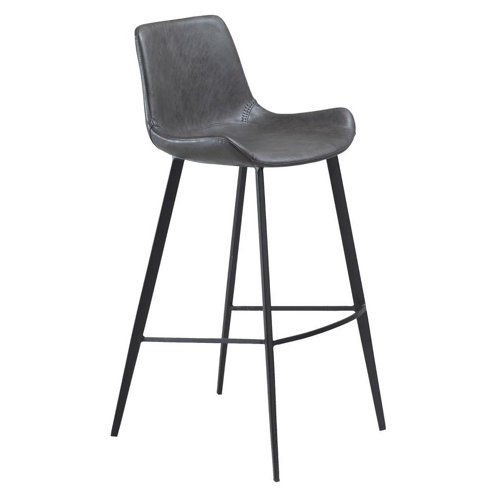 Sivá barová stolička DAN–FORM Hype