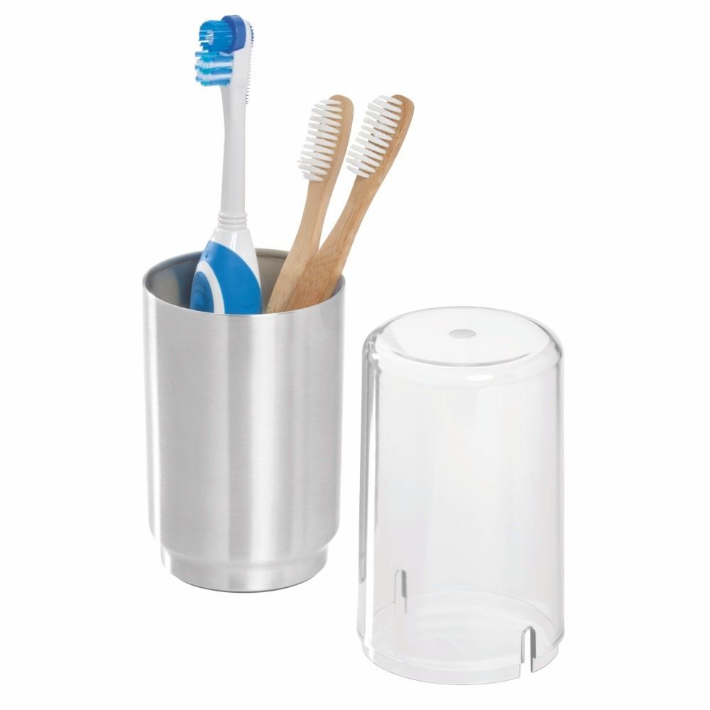 Pohárik na zubné kefky s poklopom iDesign Austin