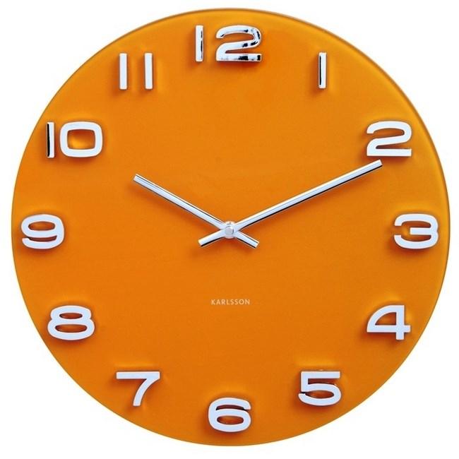 Karlsson 5640YE Designové nástenné hodiny, 35 cm