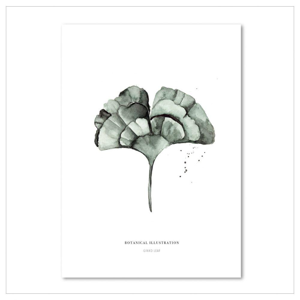 Plagát Leo La Douce Ginko Leaf, 29,7x42cm