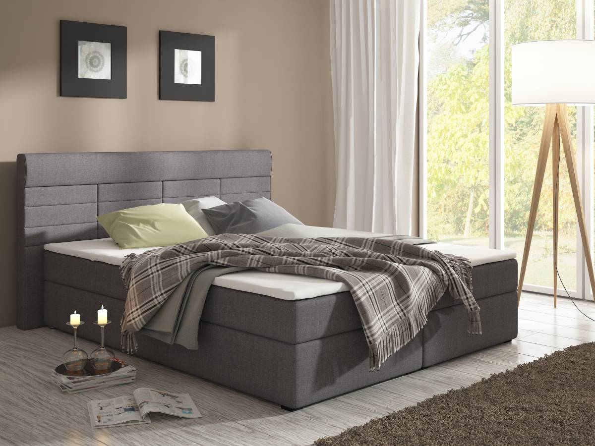 Manželská posteľ Boxspring 160 cm Torino (s matracmi)