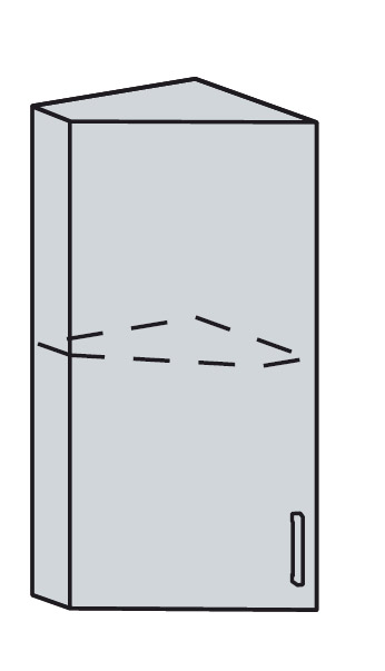 PROVENSAL horný ukon. roh 23HR šedá