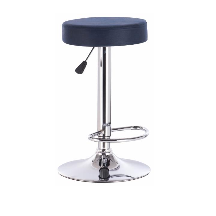 TEMPO KONDELA Barová stolička, petrolejová látka s efektom brúsenej kože, GALVIN