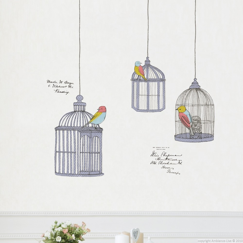 Samolepka Ambiance Birds In Cage