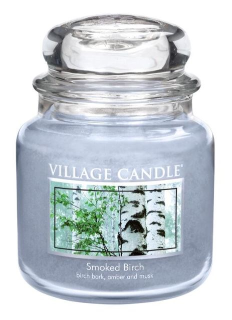 Village Candle Vonná svíčka ve skle, Bříza - Smoked birch, 397 g, 397 g