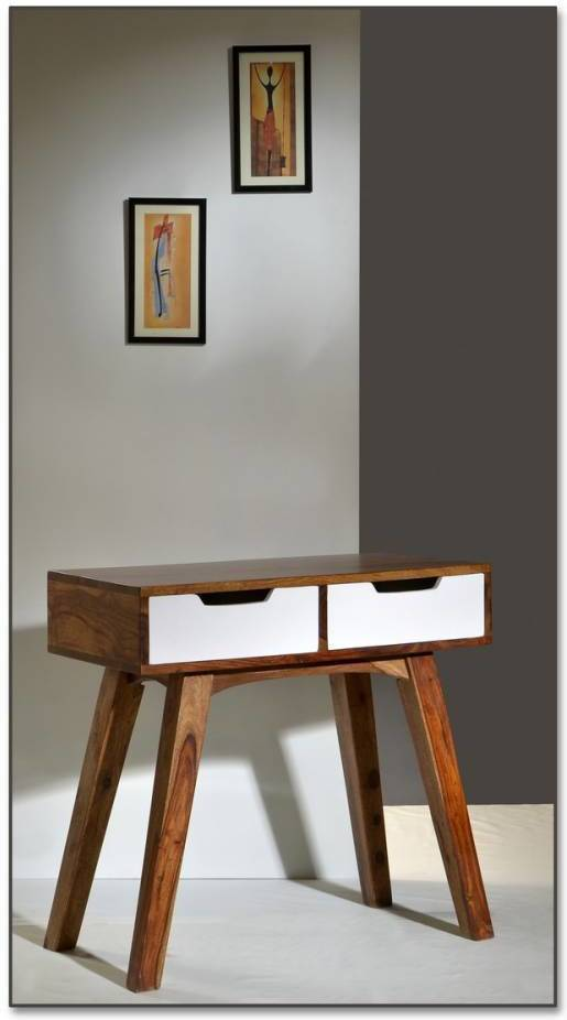 Telefónny stolík SIXTO 80 cm - hnedá