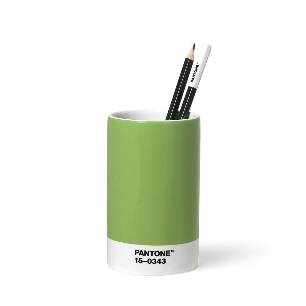 Zelený keramický stojan na ceruzky Pantone