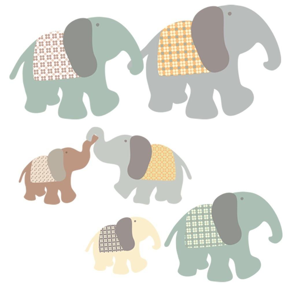 Nástenné samolepky Art For Kids Elephant Family