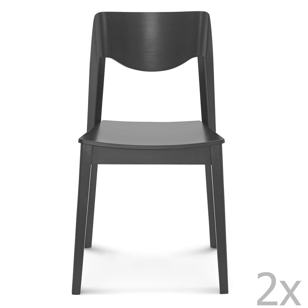 Sada 2 čiernych drevených stoličiek Fameg Ingred
