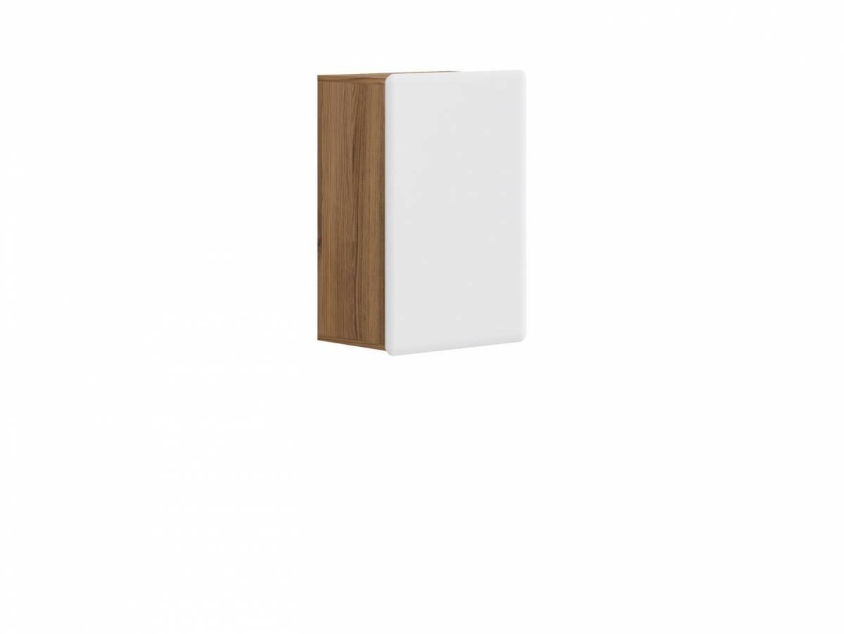 Skrinka na stenu Possi Light SFW1D/8/5 (smrekovec sibiu zlatý + lesk biely)