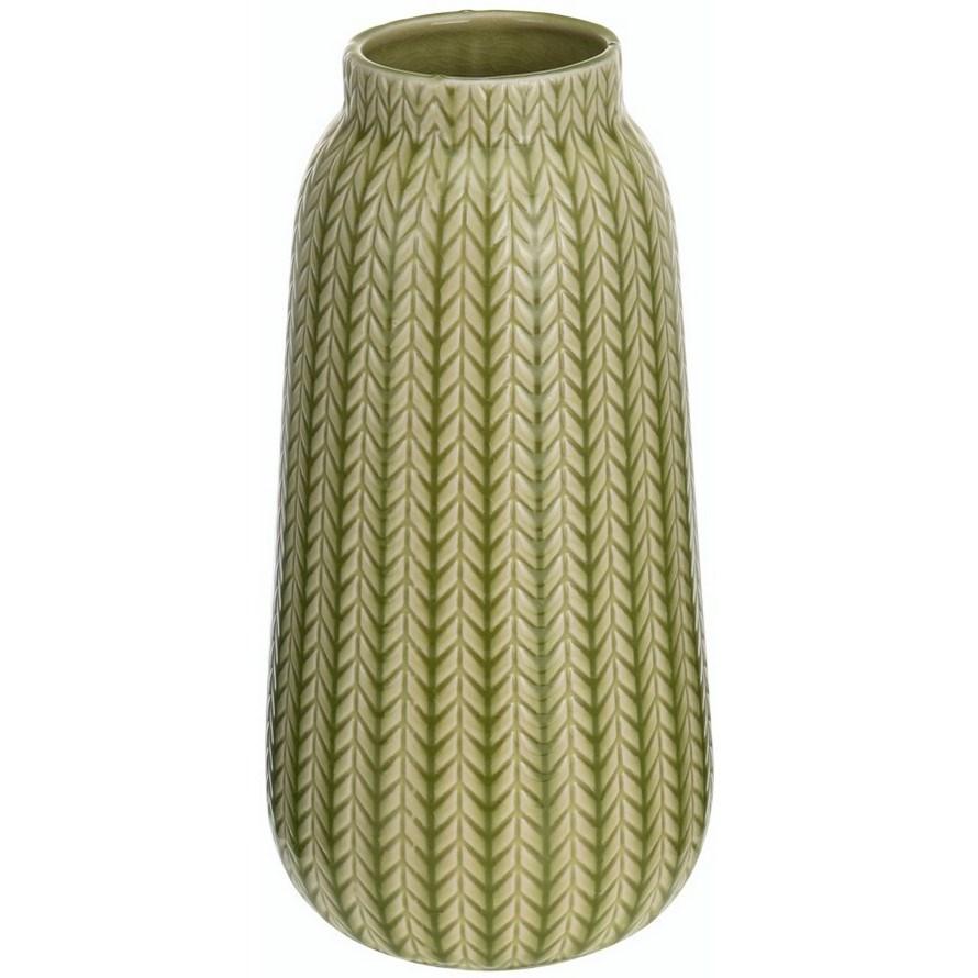 Porcelánová váza Knit svetlozelená, 24,5 cm
