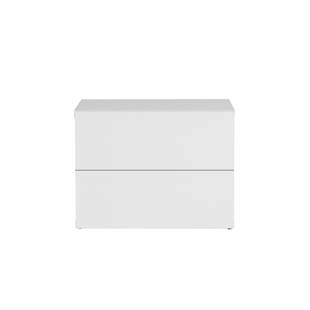 Biely nočný stolík s 2 zásuvkami TemaHome Aurora